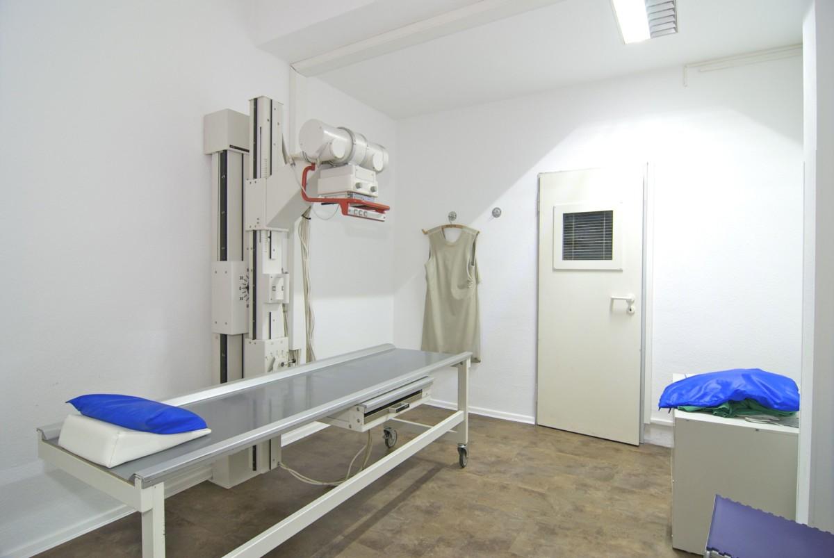 Röntgenraum in der Praxis Scherenberg in Neustadt i.H.